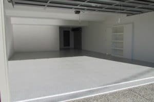 Garage Floor including flexible expansion joint